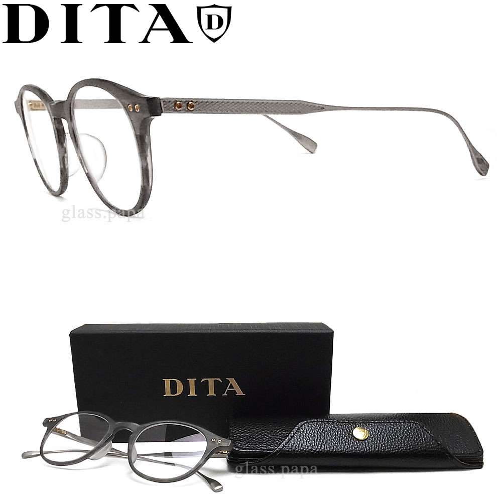 DITA ディータ メガネ フレーム DRX-2073-C-GRY-SLV サイズ47 【ASH】 眼鏡 クラシック 伊達メガネ 度付き グレーササ×アンティークシルバー メンズ