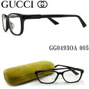 グッチ メガネ GUCCI GG04930A-005 眼鏡 ブランド 伊達メガネ 度付き ブラック メンズ・男性 セル