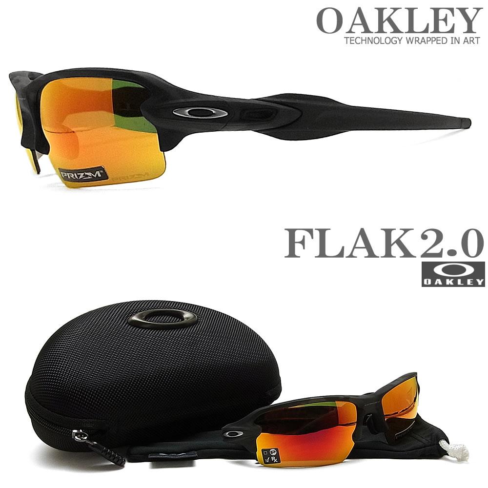 OAKLEY オークリー サングラス フラック2.0 アジアンフィット 009271-2761 [FLAK 2.0 ASIAN FIT PRIZM RUBY プリズムルビー] Black Camo