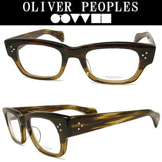 OLIVER PEOPLES奥利弗大众眼镜架子ARI-A-8108古典格子眼镜名牌没镜片的眼镜度从属于的棕色人奥利弗眼镜glasspapa