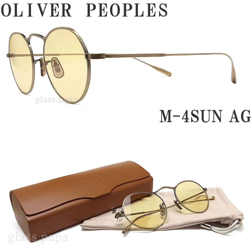 【ポイント5倍! 6月21日01:59分まで】 OLIVER PEOPLES オリバーピープルズ サングラス M-4SUN AG アンティークゴールド メンズ・レディース オリバー