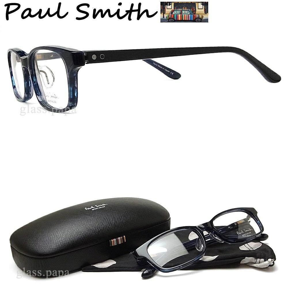ポイント5倍! 7月24日9:59分まで ポールスミス メガネ PAULSMITH PS9481 NYIN 眼鏡 伊達メガネ 度付き ブルーササ メンズ・レディース 日本製