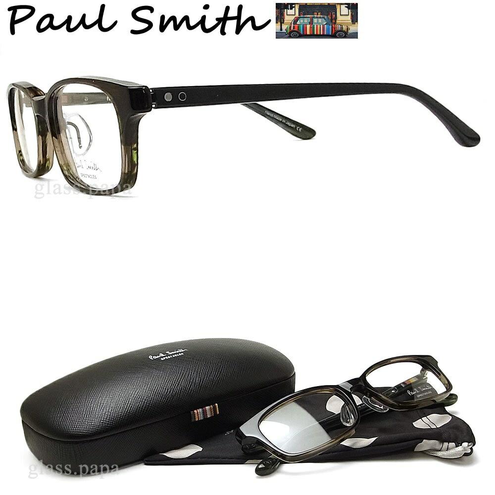 ポイント5倍! 7月24日9:59分まで ポールスミス メガネ PAULSMITH PS9481 OLIN 眼鏡 伊達メガネ 度付き スモークブラウン メンズ・レディース 日本製