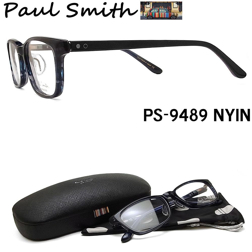 ポールスミス メガネ PAULSMITH PS9489 NYIN 眼鏡 伊達メガネ 度付き ブルー系 メンズ 日本製