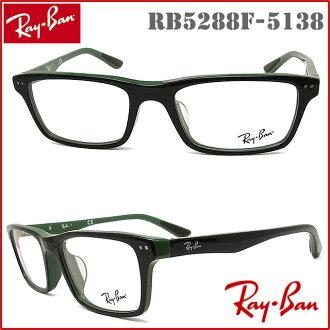 雷斑眼镜RayBan RB5288F-5138尺寸52眼镜名牌没镜片的眼镜度从属于的黑色×绿色人·女士格子glasspapa