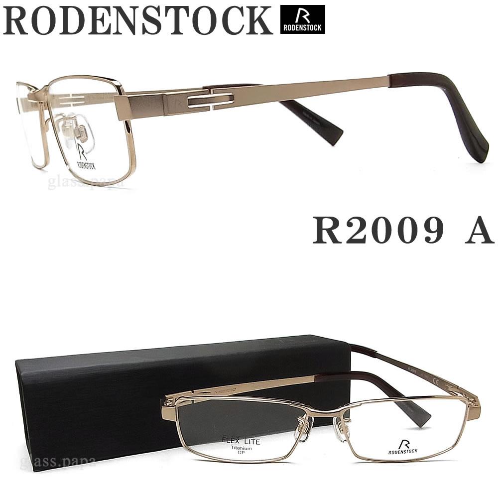 RODENSTOCK ローデンストック メガネフレーム R 2009-A 眼鏡 ブランド 伊達メガネ 度付き ゴールド メンズ メタル
