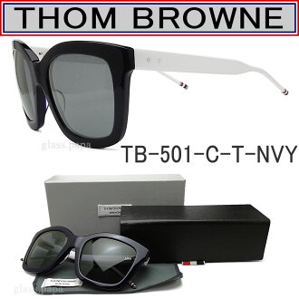 Thom sunglasses THOM BROWNE TB-501-C-T-NVY-WHT classic Navy / white unisex glasspapa