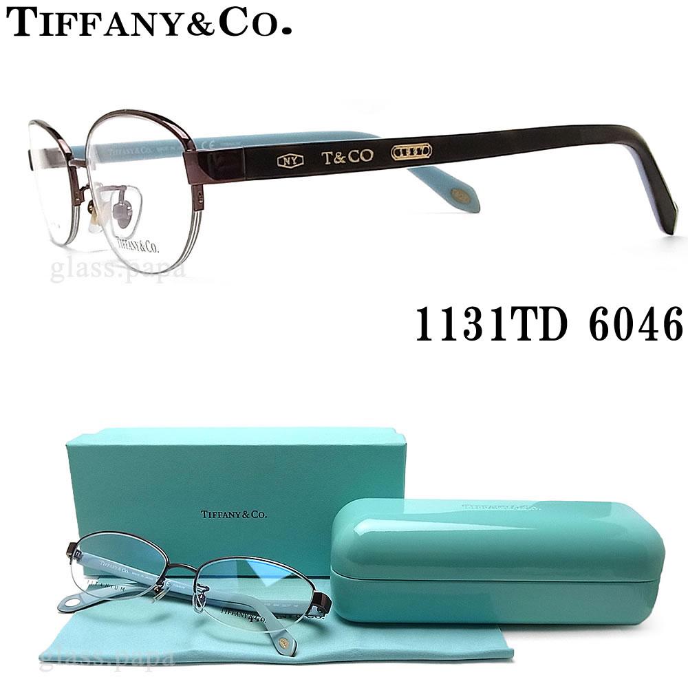 TIFFANY&Co ティファニー メガネ フレーム 1131TD 6046 眼鏡 伊達メガネ 度付き ブラウン×ダークハバナ レディース 女性