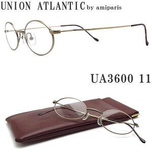 UNION ATLANTIC ユニオンアトランティック メガネ フレーム UA3600 11 オーバル 丸眼鏡 クラシック 伊達メガネ 度付き アンティークゴールド メンズ・レディース 日本製