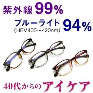 紫外線99%カット、HEV94%カット、大切な目の為に アイケアメガネ QUITO2868 PC パソコン 女性用 ルティーナ