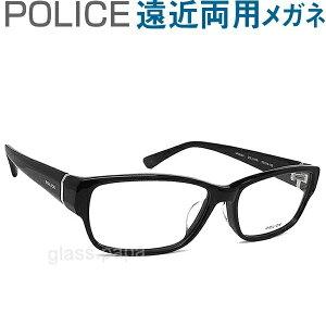 30代の頃に戻るメガネ ポリス遠近両用メガネ《安心のSEIKO・HOYAレンズ使用》POLICE 660J-01KR 老眼鏡の度数でご注文下さい 近くも見える伊達眼鏡 男性用 普通サイズ