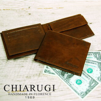 CHIARUGI and キアルージ two bi-fold wallet