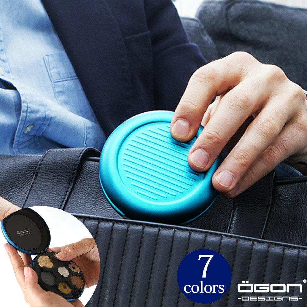 OGON アルミラウンドコインケース/日本円[OGON/オゴン][小銭入れ 硬貨 コインディスペンサー コインホルダー 小銭 収納]