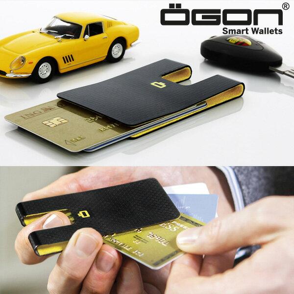 OGON 3CI カーボンテイストカードケース [クレジットカードケース カードクリップ マネークリップ スキミング防止 オゴン]