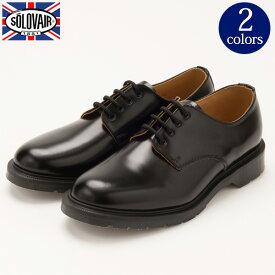 靴 メンズ イギリス製 レザーシューズ 4EYELET プレーントゥ[SOLOVAIR / ソロヴェアー]エアクッションソール くつ シューズ 革 革靴 ビジネス ドクターマーチン[送料無料] セール対象