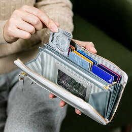 24枚カードたっぷり入る長財布レディース仕分けられる本革ラウンドファスナー財布[一目瞭然レシートすっきり送料無料母の日ホワイトデー大容量牛革本革家計仕訳やりくり財布黒ゴールドピンクおしゃれオシャレかわいい可愛いラウンドジッパー]