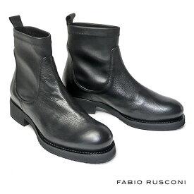 再入荷 FABIO RUSCONI ストレッチ カーフレザー ショートブーツ ローヒール レディース 本革 CLIO110 2020AW