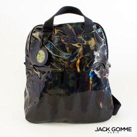 残りわずか 2020AW限定 Jack Gomme ジャックゴム リュック レディース メンズ LAMI 1815 NOIR (ブラック) ホログラム LIGHT BOREALシリーズ フランス製