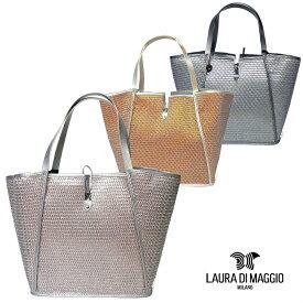 85e42fd4d5f6 ローラ ディ マジオ LAURA DI MAGGIO ラメ レザー メッシュ 台形 トートバッグ 7103レディース バッグ 通勤