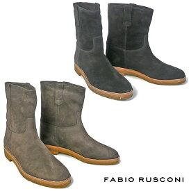 ファビオルスコーニ FABIO RUSCONI ショートブーツ 2242ウェスタンブーツ レディース ローヒール 歩きやすい ぺたんこ ブラック 黒 ブラウン 茶 カーキ 22.5cm 23cm 23.5cm 24cm 24.5cm 彼女 妻 女性 人気 レディース シューズ 靴