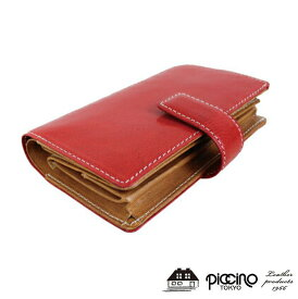 7c739285c982 piccino ピッチーノ イタリアンショルダー レザー 折り財布 P131NLレディース 財布 革 レディース 財布 がま口 財布 カード