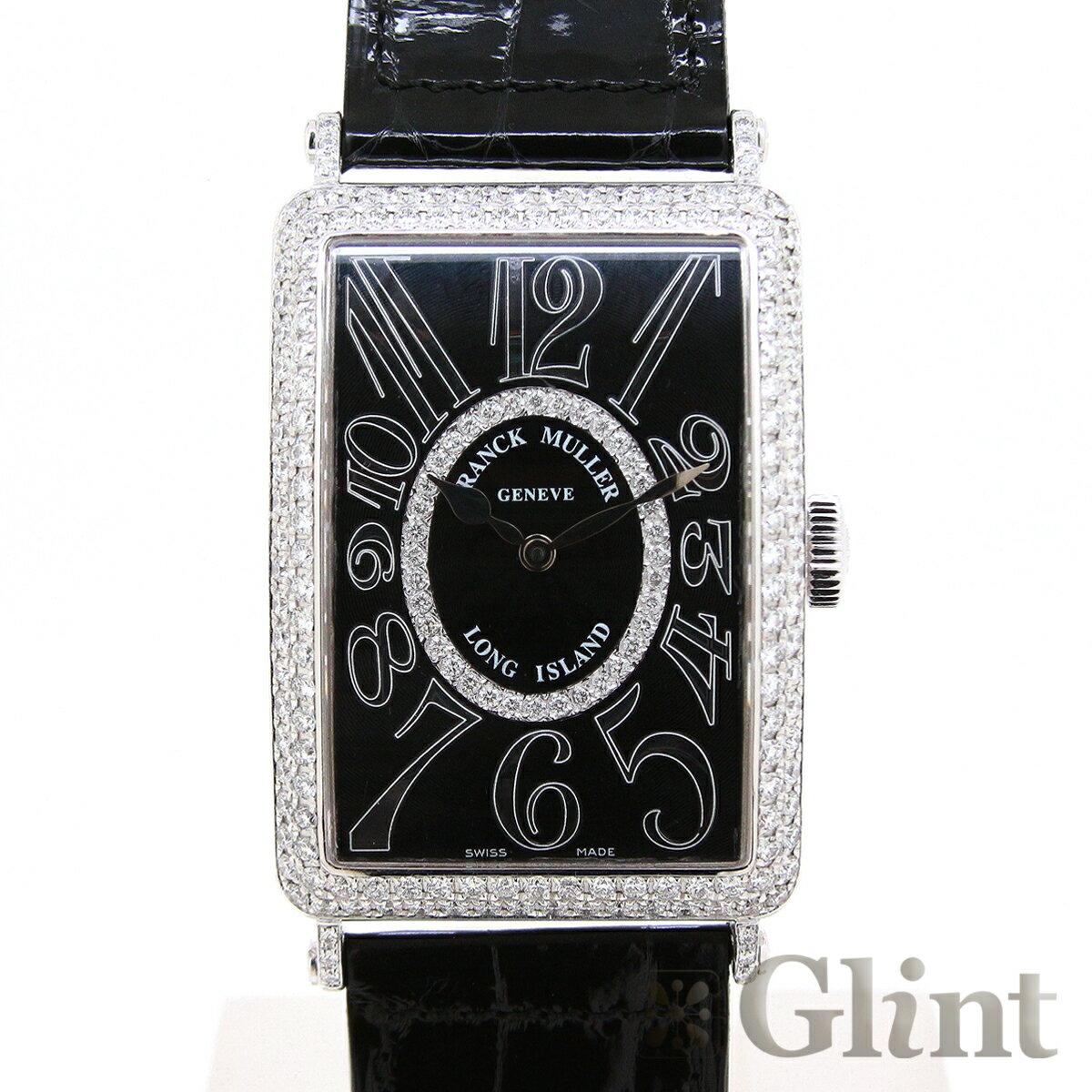 フランクミュラー(FRANCK MULLER) ロングアイランド ダイヤモンド 1200 SC RELIEF D CD 1R 〔純正品〕〔18Kホワイトゴールド〕〔腕時計〕〔メンズ〕【中古】