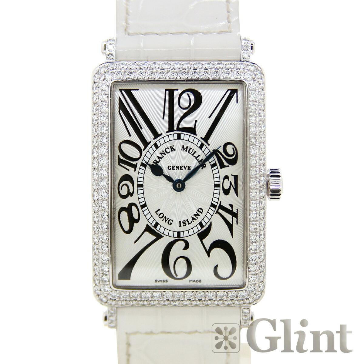 フランクミュラー(FRANCK MULLER) ロングアイランド ダイヤモンド 100SC D 〔純正ダイヤ〕〔18Kホワイトゴールド〕〔腕時計〕〔メンズ〕【中古】