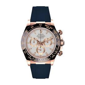 ラバーB【RUBBERB】ロレックス(ROLEX)デイトナ(DAYTONA)116515LN(革ストラップ)専用ラバーベルト【ネイビー】※時計は付属しません