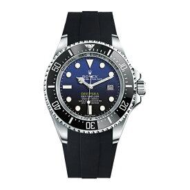 ラバーB【RUBBERB】ロレックス【ROLEX】シードゥエラー ディープシー(Ref.116660)専用ラバーベルト VELCRO(マジックテープ)【ブラック】※時計は付属しません