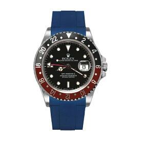 ラバーB【RUBBERB】ROLEX GMTマスターII専用ラバーベルト 色:ブルー【尾錠付き】※時計は付属しません