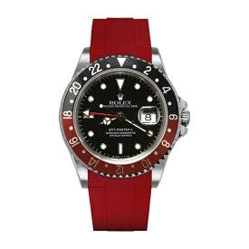 ラバーB【RUBBERB】ROLEXGMTマスターII専用ラバーベルト 色:レッド【ROLEX純正バックルを使用】※時計、バックルは付属しません