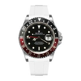 ラバーB【RUBBERB】ROLEX GMTマスターII専用ラバーベルト 色:ホワイト【尾錠付き】※時計は付属しません