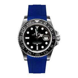 ラバーB【RUBBERB】ROLEX GMTマスターIIセラミック専用ラバーベルト 色:ブルー【尾錠付き】※時計は付属しません