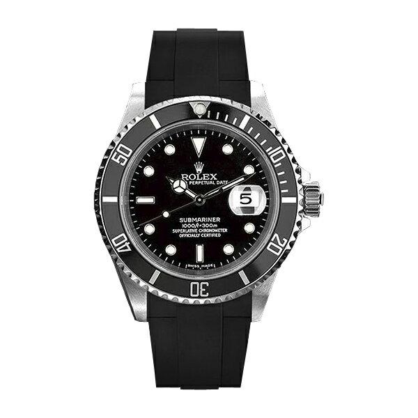 ラバーB【RUBBERB】ROLEXサブマリーナセラミック専用ラバーベルト 色:ブラック【ROLEX純正バックルを使用】※時計、バックルは付属しません