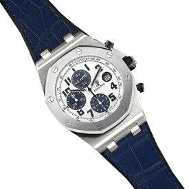 ラバーB【RUBBERB】オーデマピゲ ロイヤルオークオフショア 42mmモデル専用ラバーベルト アリゲーター調【ブルー】 ※時計、バックルは付属しません。