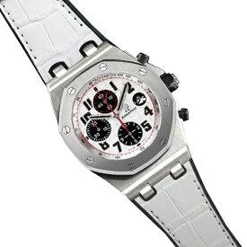 ラバーB【RUBBERB】オーデマピゲ ロイヤルオークオフショア 42mmモデル専用ラバーベルト アリゲーター調【ホワイト】 ※時計、バックルは付属しません。