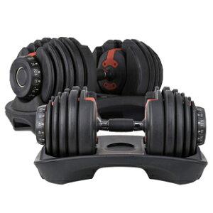 在庫あり 2個SET ダイヤル可変式ダンベル×24Kg計48kg 両腕筋トレ エクササイズ ダンベル可変式 スポーツ