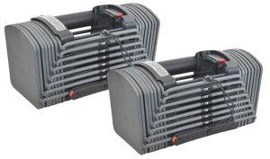 可変式ダンベル 26Kg ×2 両腕分計52Kg 2個SET  24段階アジャストブル ダンベルセット ダンベル可変式 トレーニング エクササイズ 5月中旬前後入荷予定