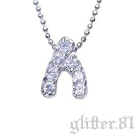 【あす楽対応】★*Inspired Celebrity*★スターリングシルバー925 AAA高級CZダイヤ(キュービックジルコニア) ウィッシュボーンプチペンダントネックレス Sterling Silver with CZs Wishbone Petit Pendant Necklace