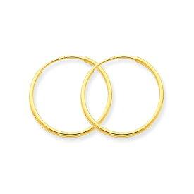 14KGF│14Kゴールドフィルド│エンドレスフープピアス φ1.2mm×30mm Gold Filled Endless Hoop Earrings【あす楽対応】【楽ギフ_包装】