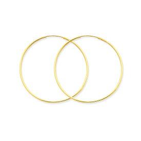14KGF│14Kゴールドフィルド│エンドレスフープピアス|φ1.2mm×40mm|Gold Filled Endless Hoop Earrings【あす楽対応】【楽ギフ_包装】
