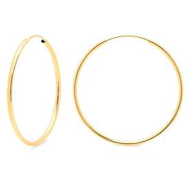 14KGF│14Kゴールドフィルド│エンドレスフープピアス φ1.2mm×50mm Gold Filled Endless Hoop Earrings【あす楽対応】【楽ギフ_包装】