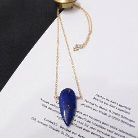 glitter.81オリジナル│14Kゴールドフィルド|14KGF|一粒 天然石 ラピスラズリ ネックレス|大粒アローヘッド(矢じり形)|12月誕生石|14K Gold Filled Drop Necklace with Natural Stone Arrowhead Lapis lazuli【送料無料】【あす楽対応】【楽ギフ_包装】