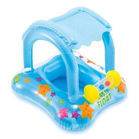 浮き輪 子供 足入れ 浮輪 サンシェード付き ベビーフロート 赤ちゃん