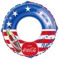 浮き輪大人子供用コカコーラビッグサイズフロート100センチ