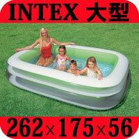 プール 大型 ビニールプール 子供用 intex 家庭用 ファミリープール 262cm