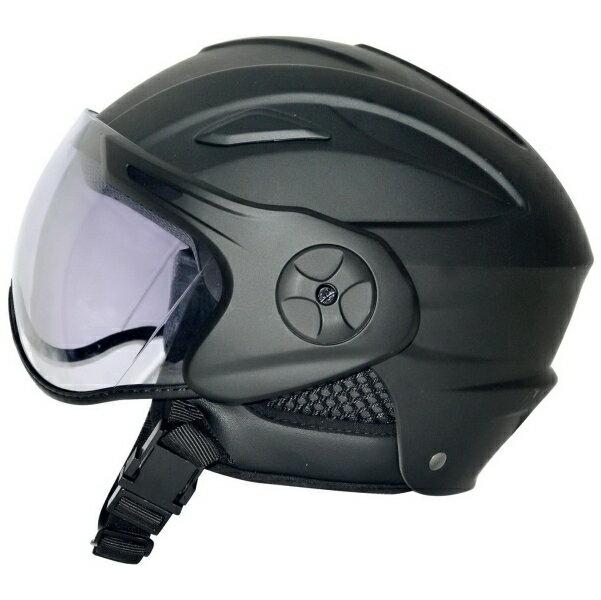 【ceptoo(セプトゥー)】 CZ-701 セミジェット マットブラック フリーサイズ パイロットヘルメット 内装丸洗い 4950545390974 【4950545390974】