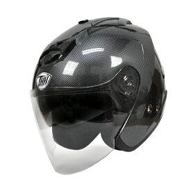 【THH】 インナーサンバイザー採用 ジェットヘルメット T-386 グラフィックモデル カーボンプリント 【PSC 日本国内公道走行可能のSG規格認定】全排気量対応【THH日本総代理店】
