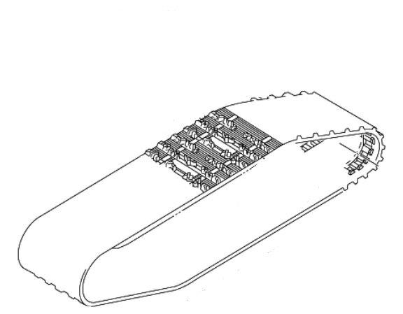 【送料無料】【ヤマハ(YAMAHA)】 純正 スノーモービル用 トラックアッセンブリー 8GK-47110-01(旧型番8GK-47110-01) RPZ50 RT50 キャタピラ 【8gk4711000】
