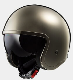 【送料無料】【LS2(エルエスツー)】 国内正規品 SG認定 インナーバイザー付 ジェットヘルメット SPITFIRE(スピットファイア) レトロ 色:クローム 【レトロなルックスにモダン機能を装備】